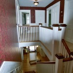 Hard to reach areas and stairways require a professional painter with the proper equipment