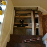 Interior wood repairs - a broken stair landing