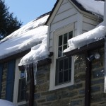 Ice laden gutters.