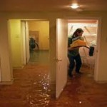 Flooded basement.