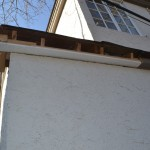 Damage from neglected gutter.