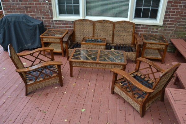 Teak Deck Furniture Refinishing